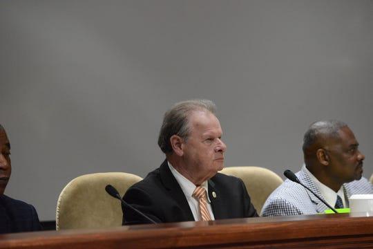 Jackson City Councilman David Cisco, District 9, at the April city council meeting in Jackson, Tenn.