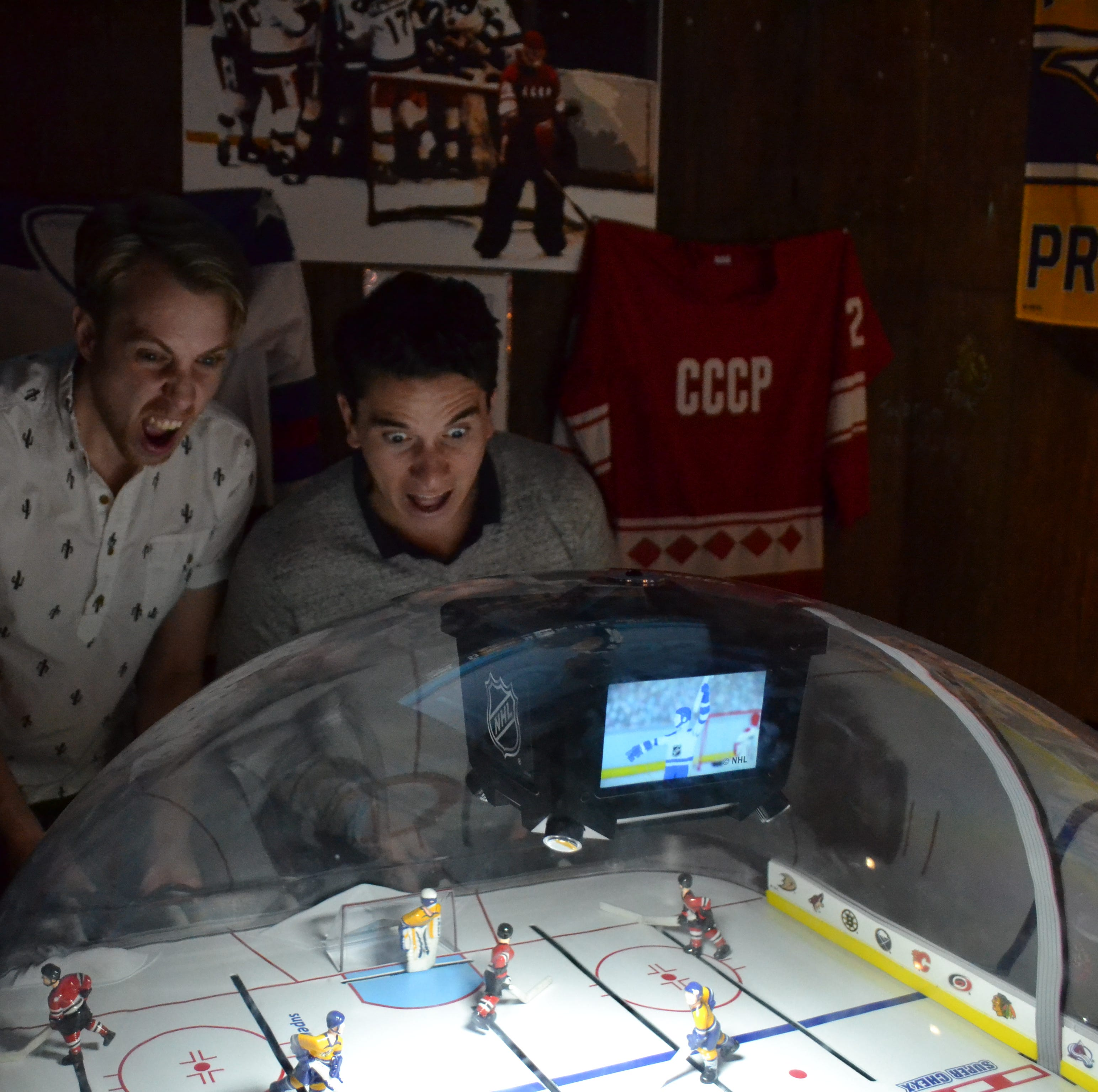 Bubble Hockey at Suttree's High Gravity Tavern