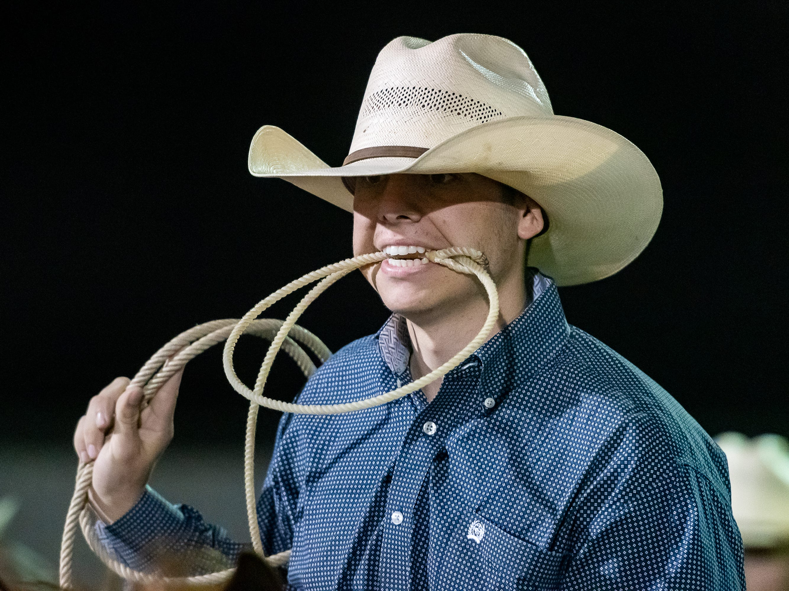 Calf Roper Tyler Frederick gets ready to nod for the chute as the Cajun Rodeo Association host the Cowboys Spring Stampede 19 Rodeo at Cowboys Arena in Scott, LA. Saturday, April 13, 2019.