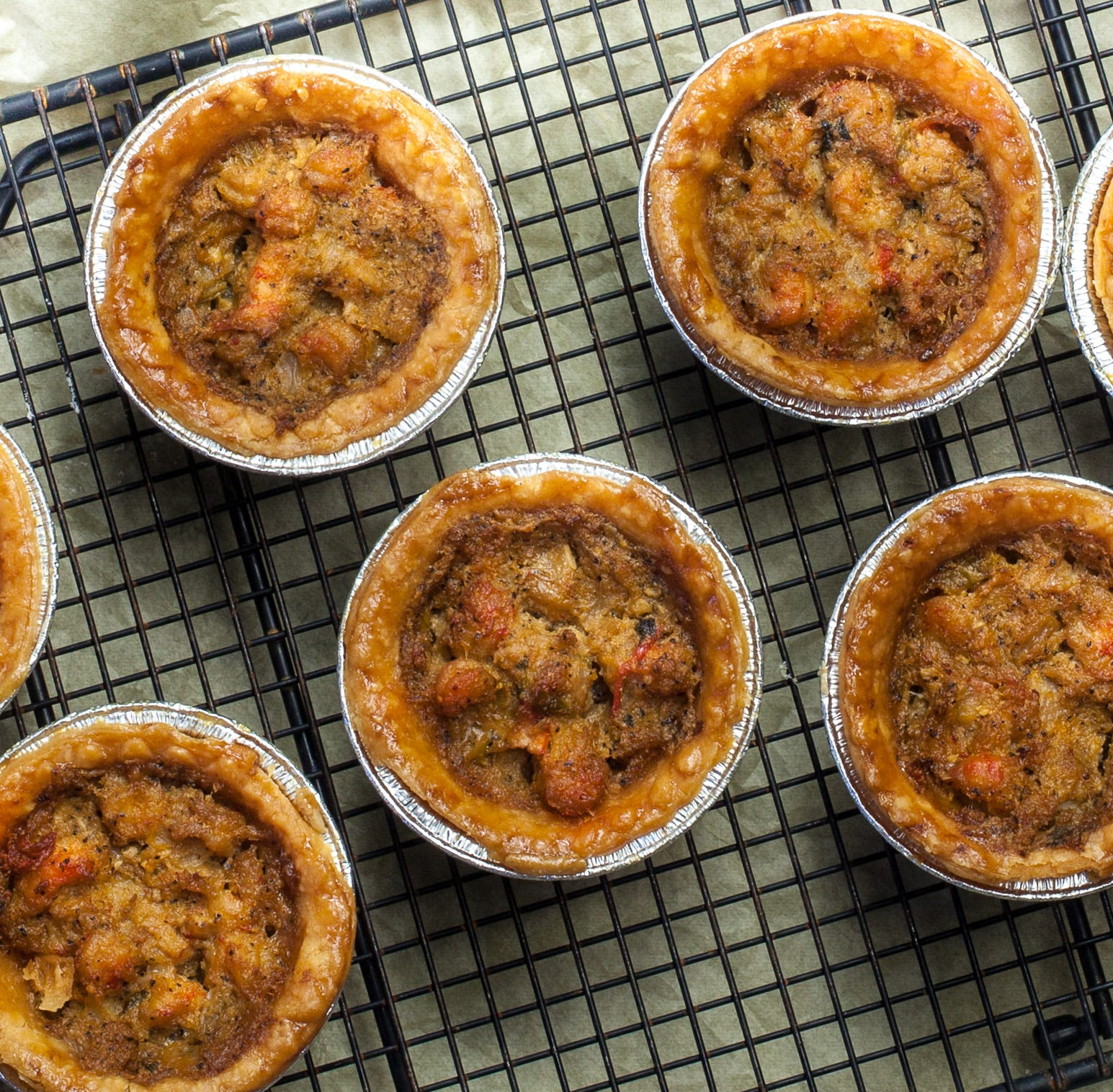 These mini crawfish pies are a party pleaser