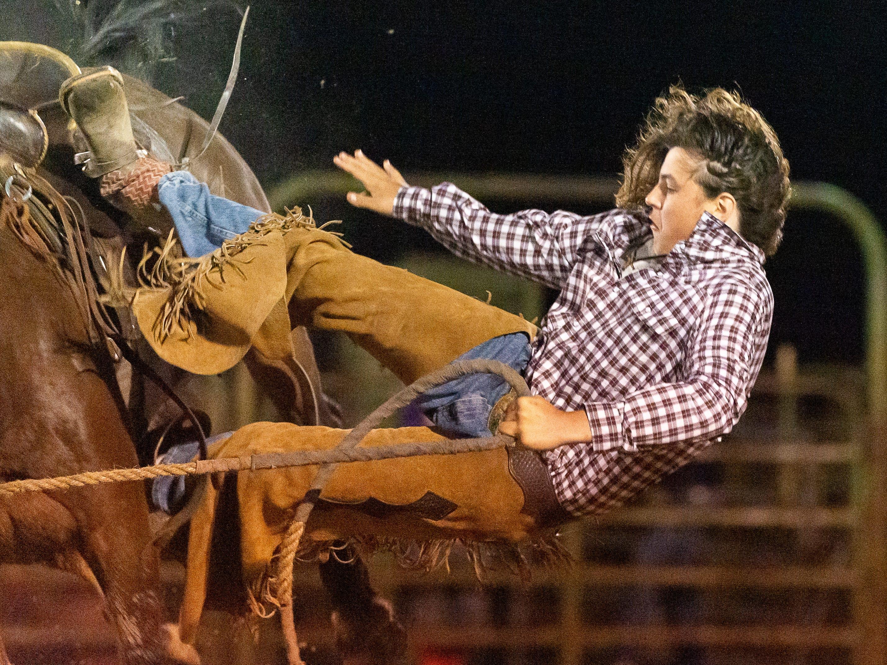 Cajun Rodeo Association host the Cowboys Spring Stampede 19 Rodeo at Cowboys Arena in Scott, LA.. Friday, April 12, 2019.