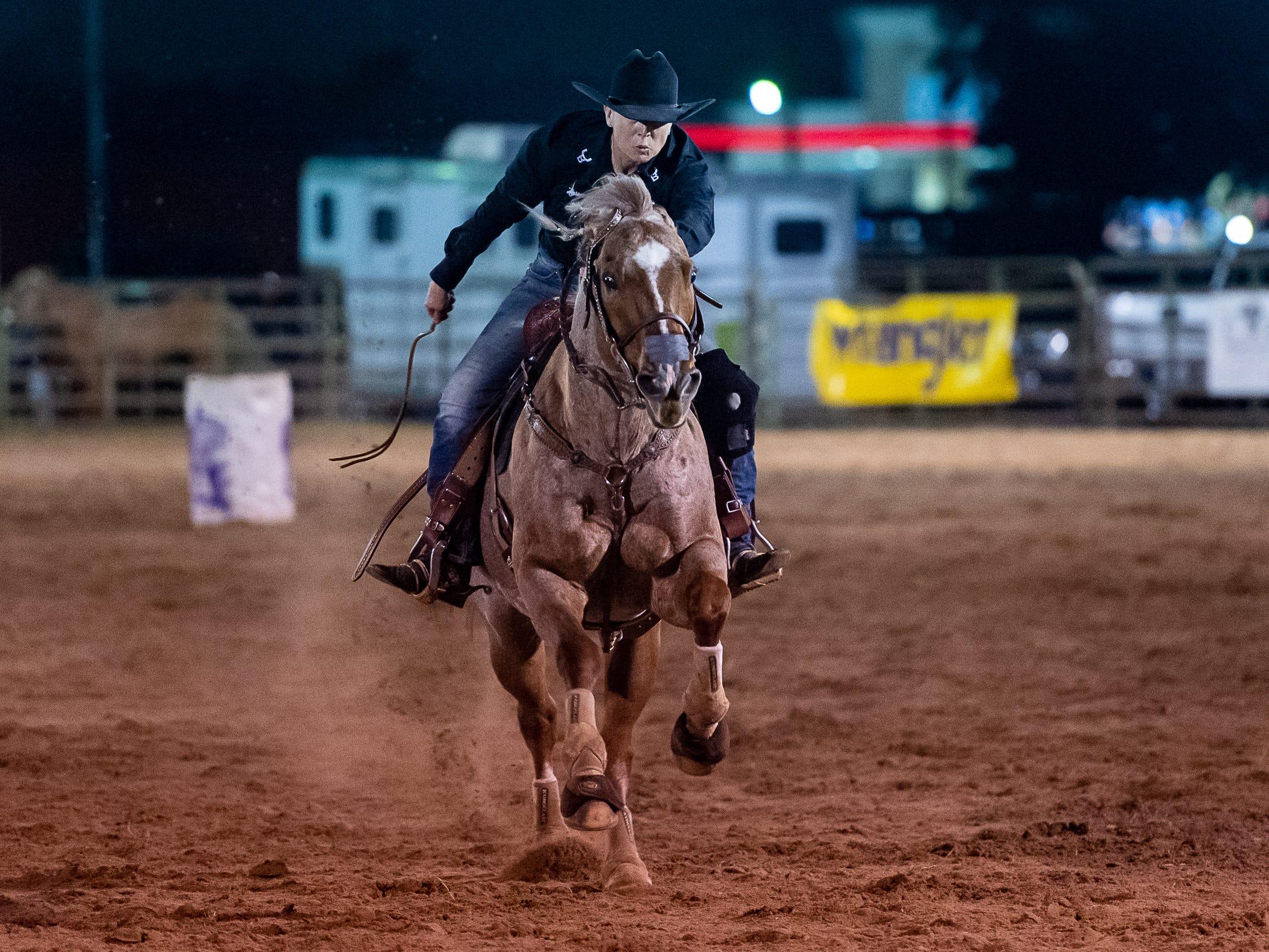 Cajun Rodeo Association host the Cowboys Spring Stampede 19 Rodeo at Cowboys Arena in Scott, LA. Saturday, April 13, 2019.