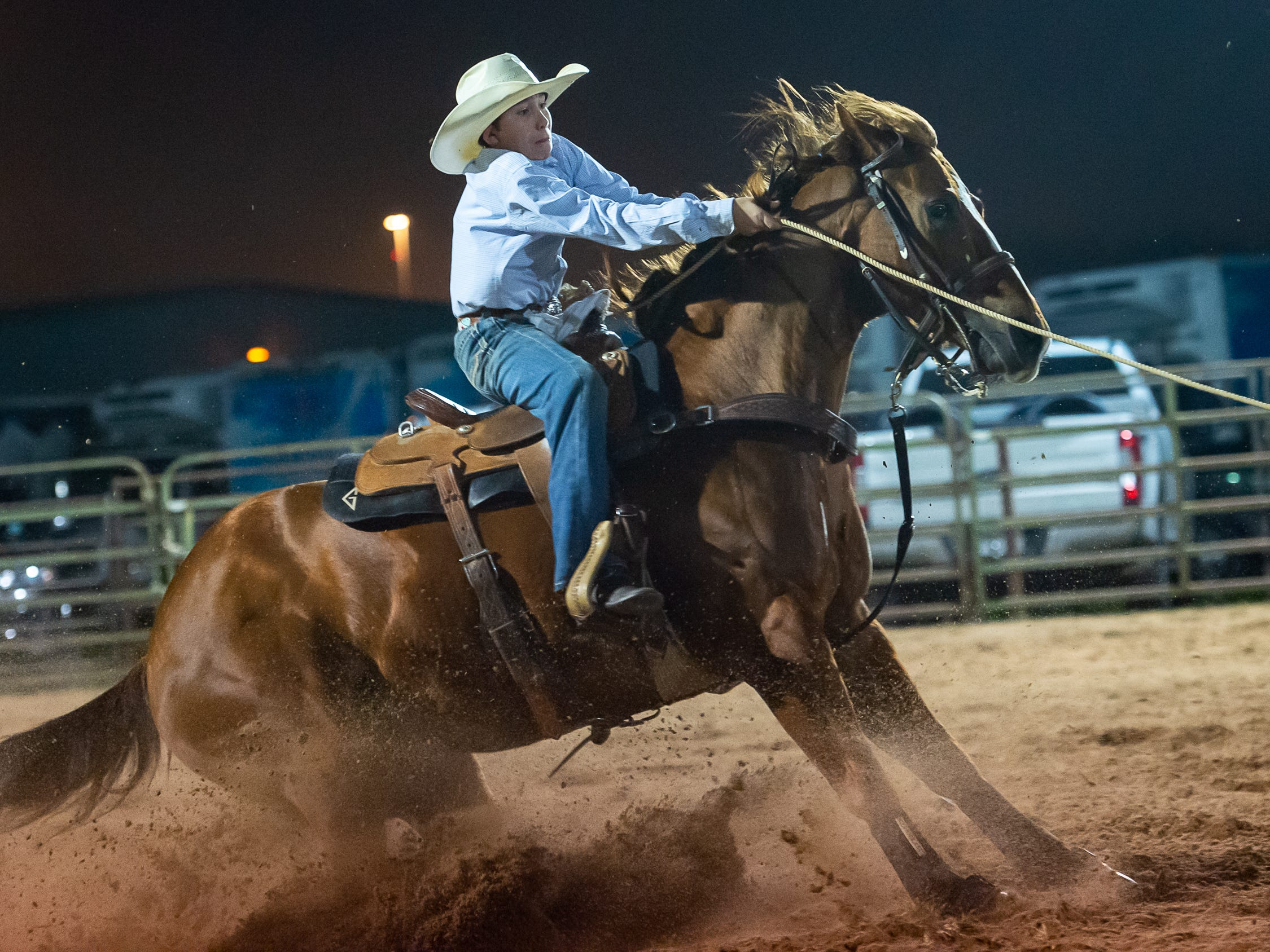 Braxton Guillot as the Cajun Rodeo Association host the Cowboys Spring Stampede 19 Rodeo at Cowboys Arena in Scott, LA. Saturday, April 13, 2019.