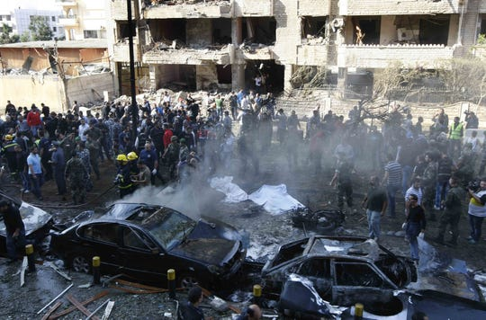 Bombs outside the Iranian embassy in Beirut killed dozens and wounded scores more today, Tuesday, Nov. 19, 2013, in what was widely seen as retaliation for Iran and Hezbollah's support of Syrian President Bashar Assad.