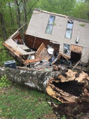 A cabin at Lake Cumberland State Resort Park where six guests were staying April 14.