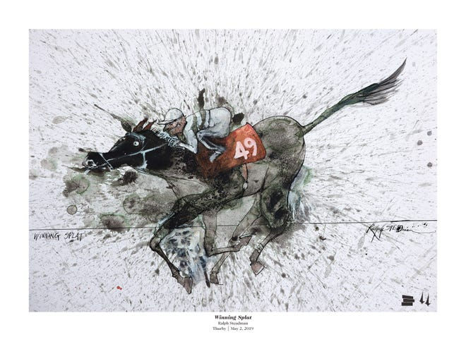 "Ralph Steadman's Thurby 2019 poster. Steadman joined Louisville native Hunter S. Thompson for the writing of his infamous and iconic work, ""The Kentucky Derby is Decadent and Depraved."""