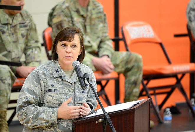 Col. Allison Miller, commander of the 179th Airlift Wing, said Sunday's ceremony was a way to thank and honor those who serve but don't necessarily receive a formal welcome home if they deploy overseas.