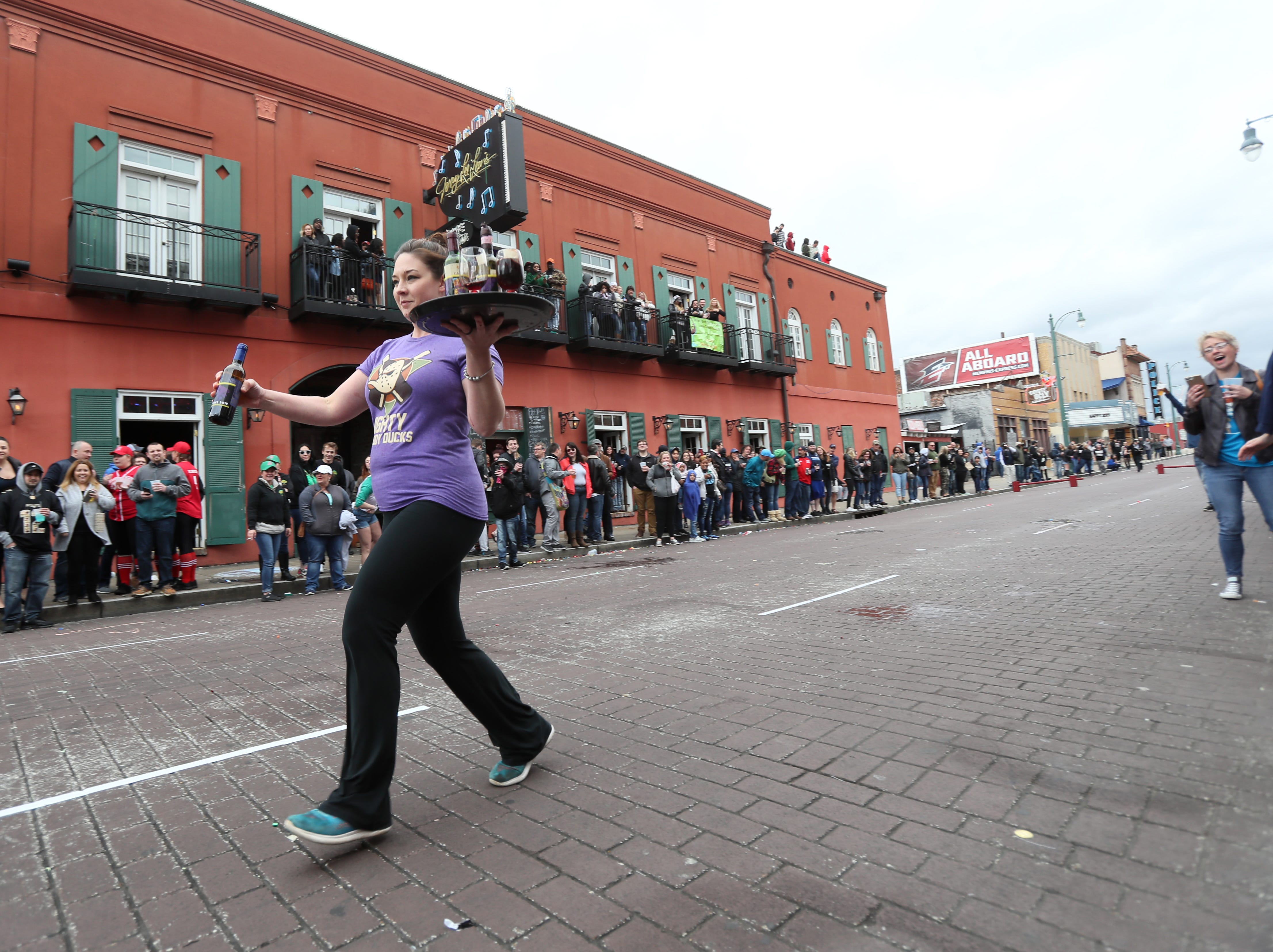 Beale Street Wine Race downtown with Queen of the Vine contest, Grape Stomp and the Great Wince Race on Sunday, April 14, 2019.