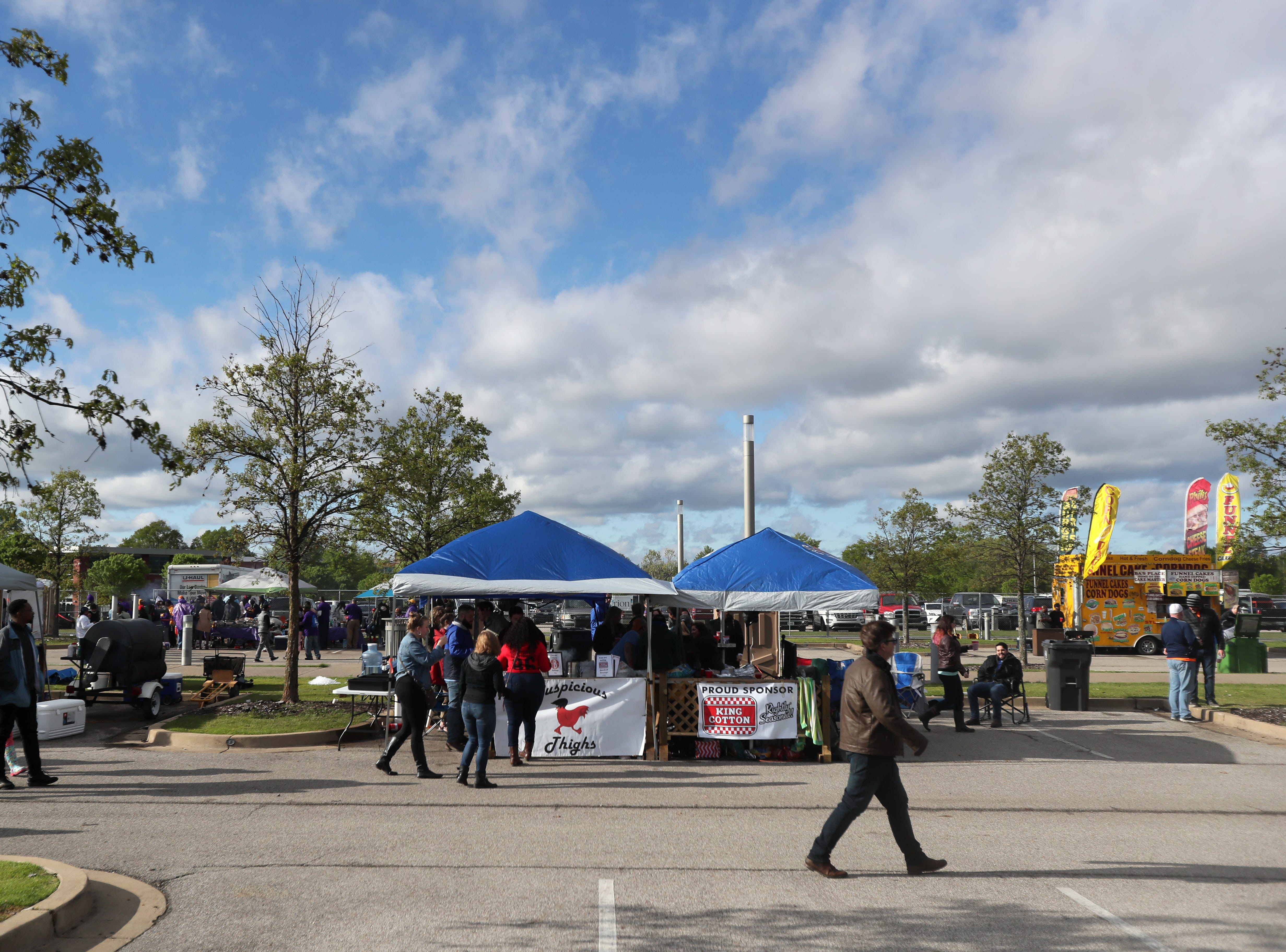 The 17th Annual Southern Hot Wing Festival on Tiger Lane at Liberty Bowl Memorial Stadium on Sunday, April 14, 2019.
