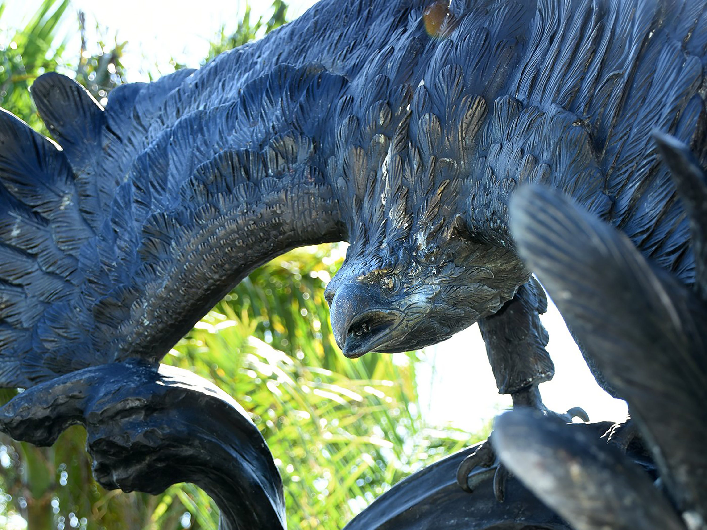 Friday morning, the Marco Island Foundation for the Arts unveiled a plaque with the names of donors who have contributed to the purchase of the Double Eagle sculpture at Sarazen Park on Marco.