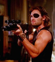 "Kurt Russell's Snake Plissken is locked and loaded in ""Escape From New York."""