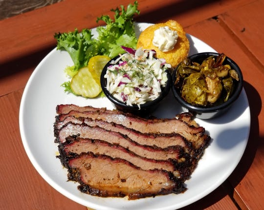 Brisket is a popular choice of meat on the Double B's menu.
