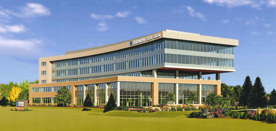 Landmark Credit Union's proposed Brookfield headquarters could be the first of two buildings at that site.