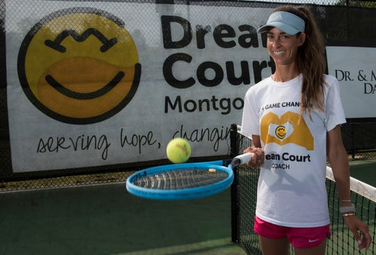 Jessica Weyreuter, founder of Dream Court, poses for a portrait at Thompson Park in Montgomery, Ala., on Saturday, April 13, 2019. Dream Court is a non-profit tennis program for special needs athletes.