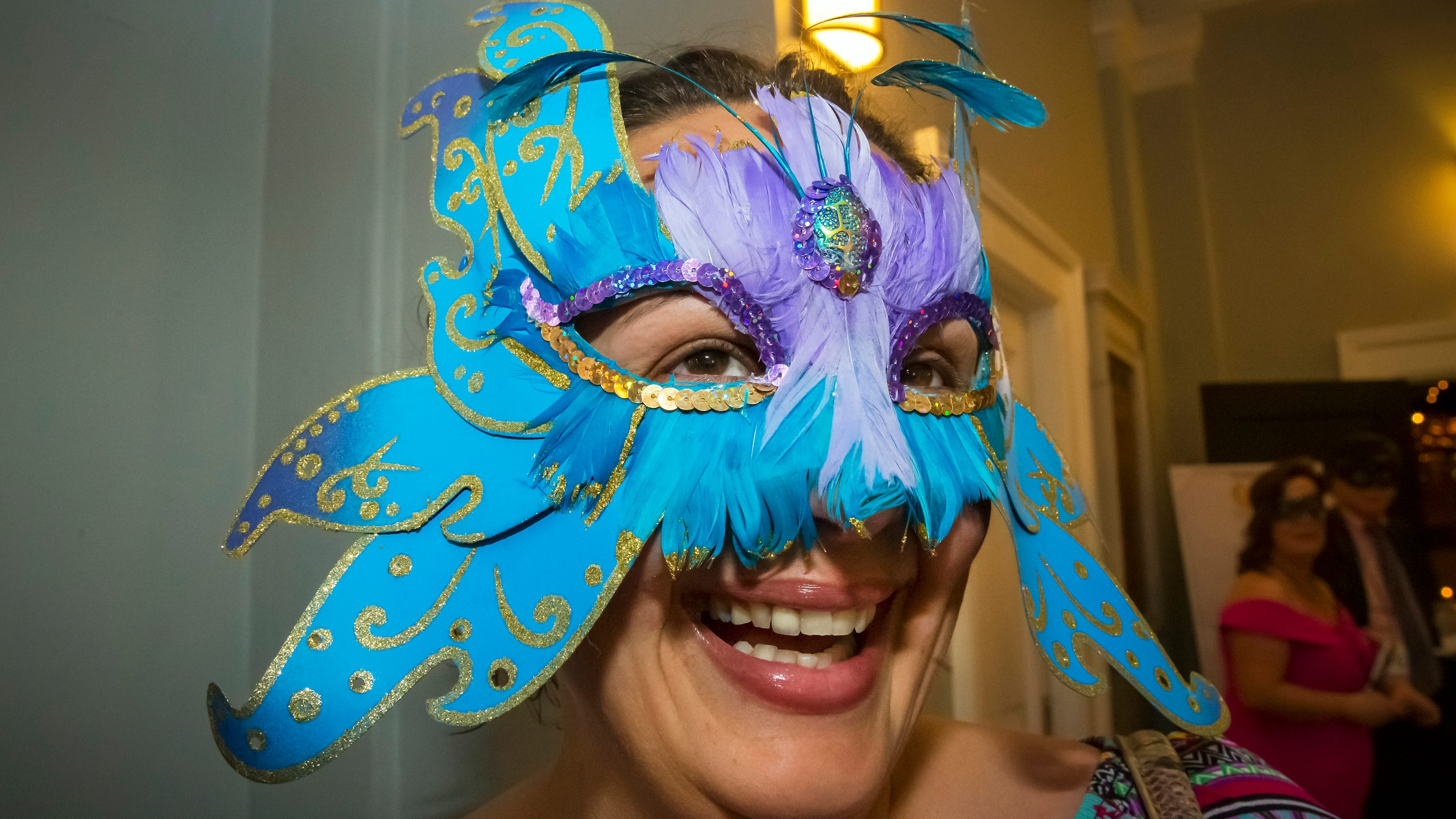 Carrie Estes at the Masquerade Bash at the Center for the Arts on Saturday, April 14, 2019.