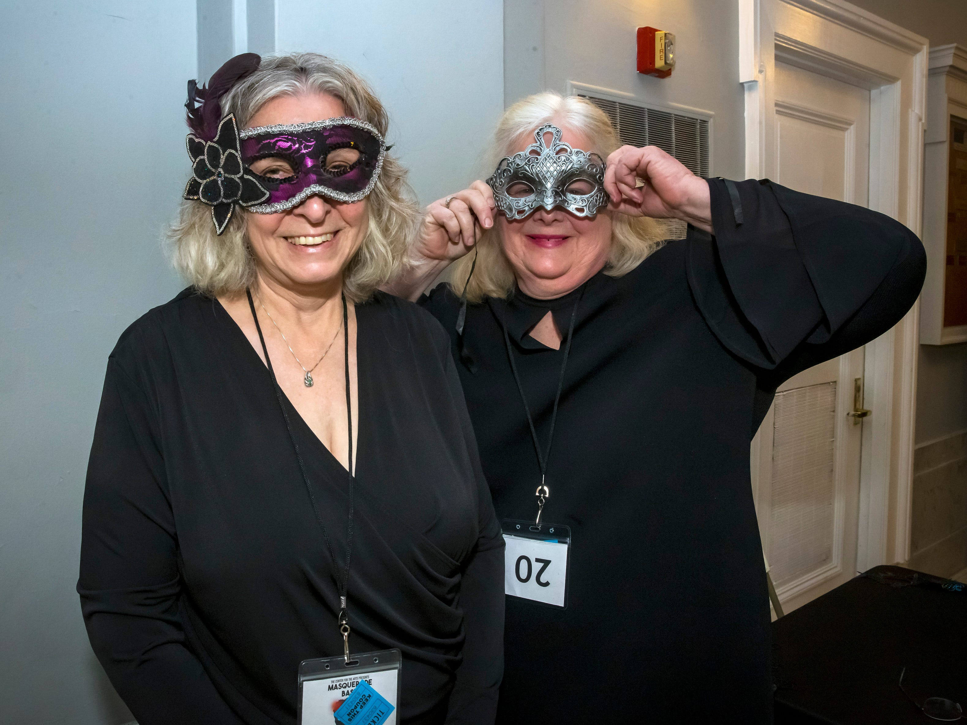 Joan Bentley and Diane Weaver at the Masquerade Bash at the Center for the Arts on Saturday, April 14, 2019.