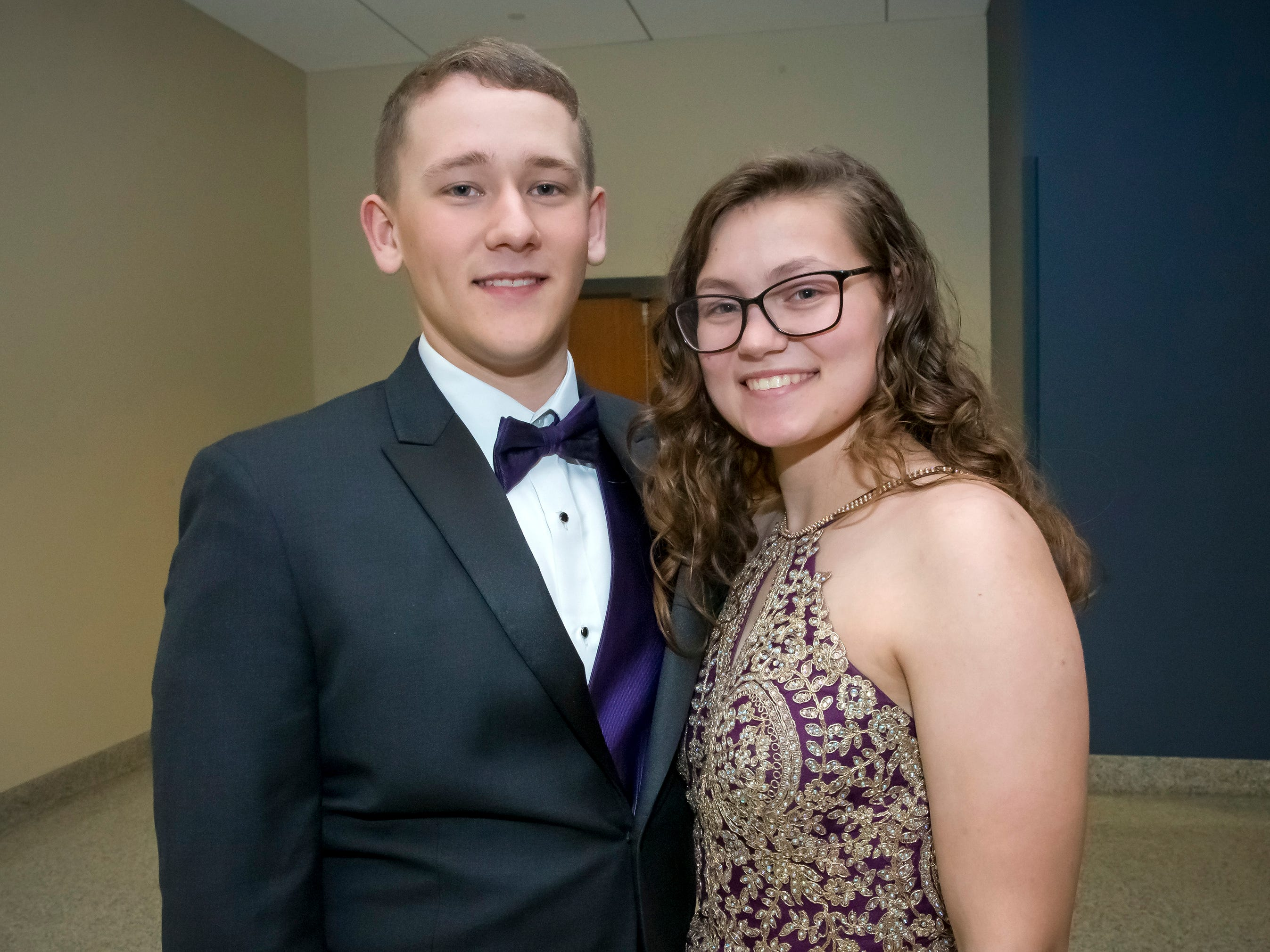 Joseph Furgason and Emma Short arrive at Siegel High School prom at MTSU, Saturday, April 13, 2019.