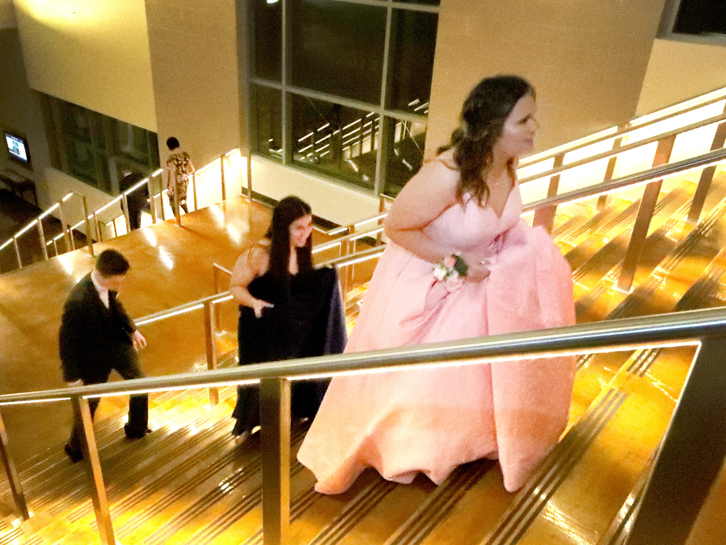 Those attending the Blackman prom ascended a large staircase to arrive at prom on Friday April 12, 2019, at MTSU.