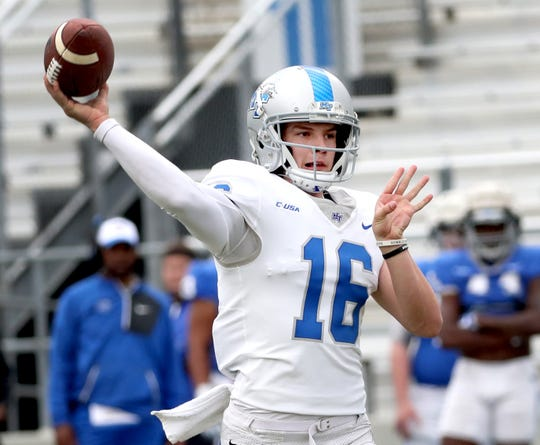 MTSU quarterback Chase Cunningham saw limited action last season.