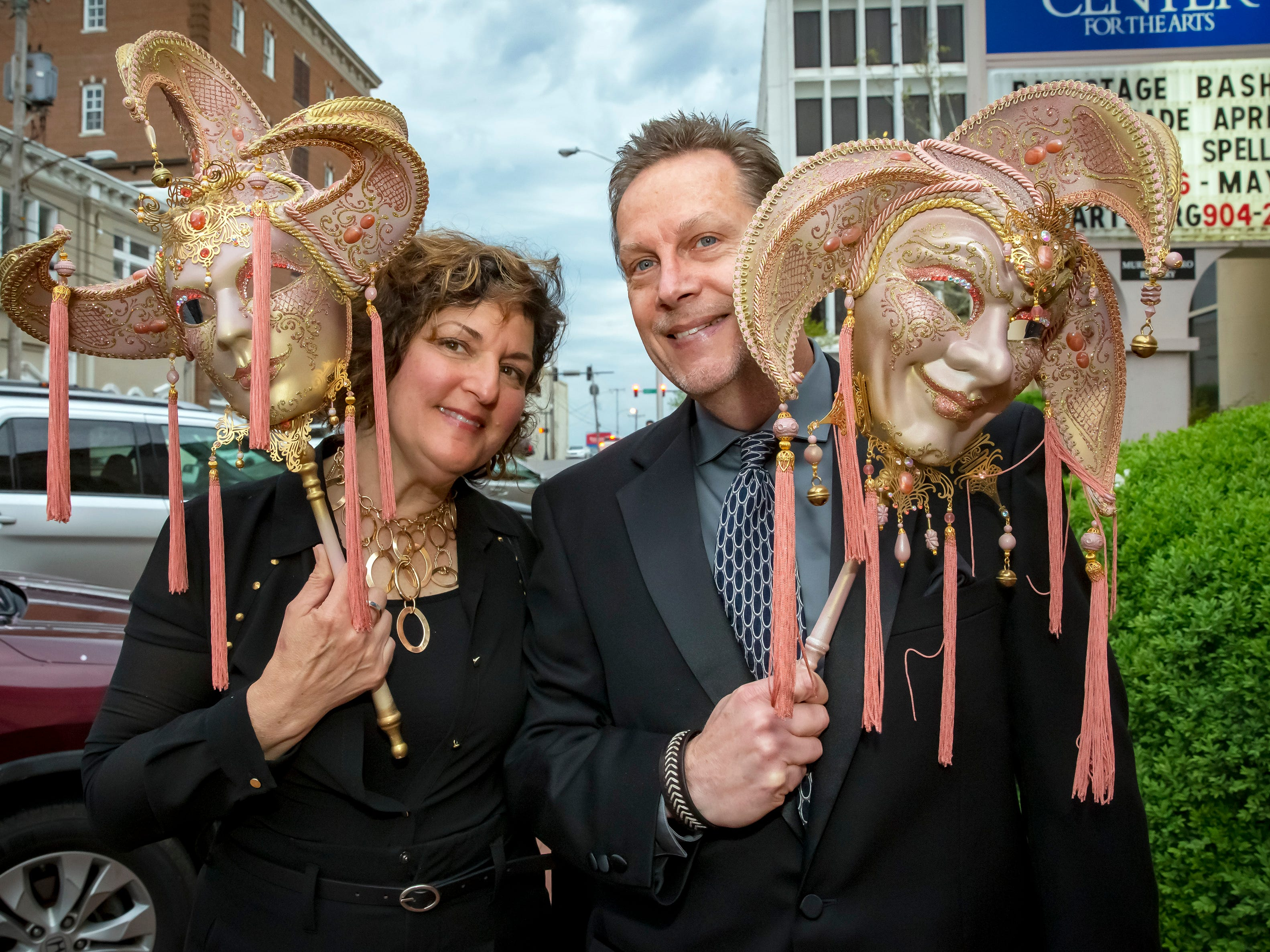 Lisa and Mike Browning were among the attendees at the Center for the Arts' annual Masquerade Bash on Saturday, April 13, 2019.
