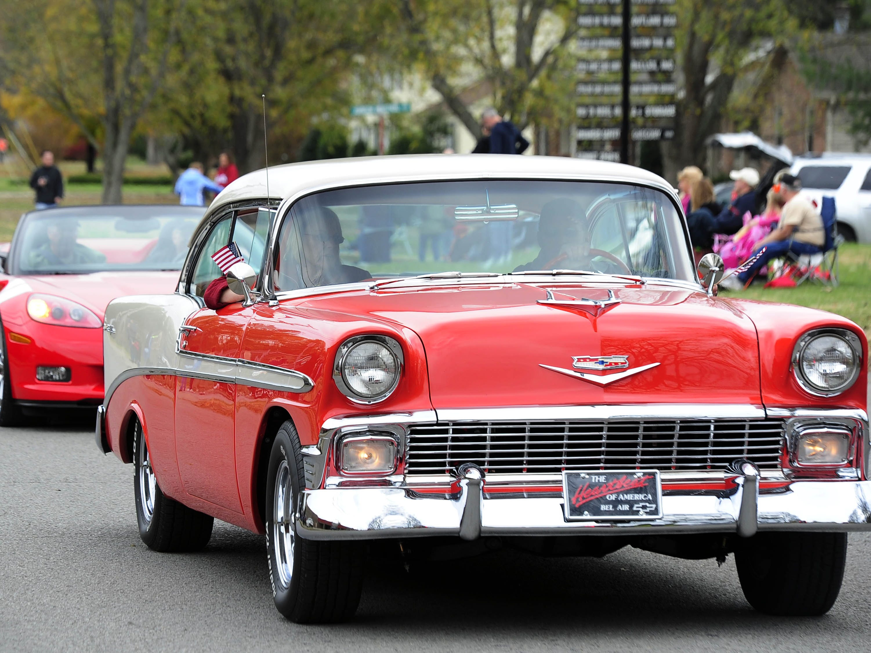 A collection of classic cars were part of the Nolensville Veterans Day Parade on Nov. 9, 2013.