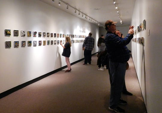 "Installation view of ""One Hundred Moments in Mosaic,"" on view at the Parthenon Museum."