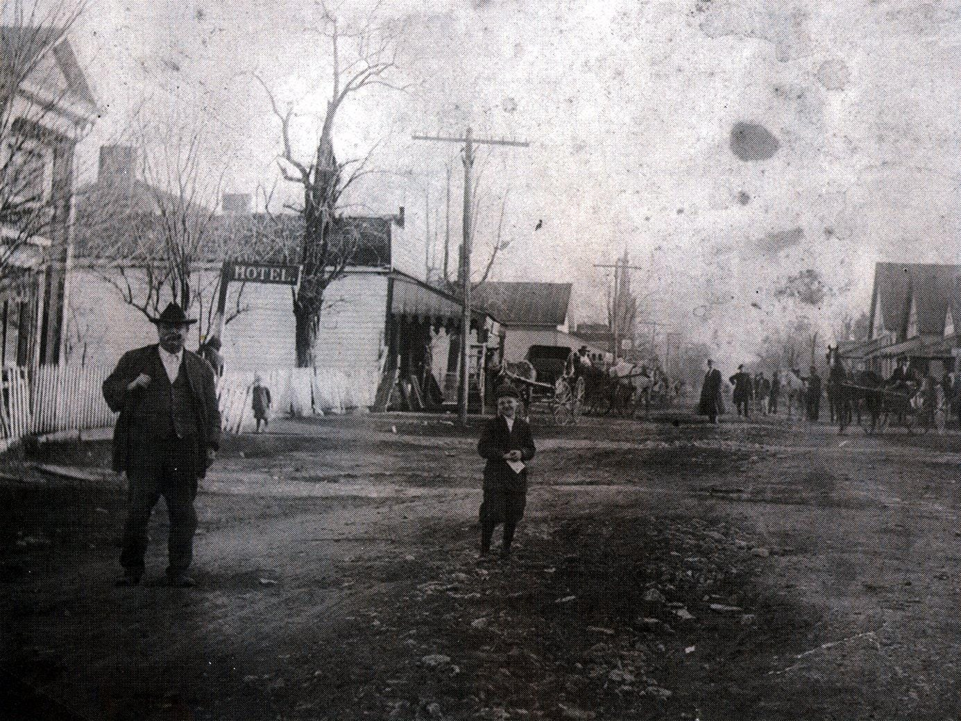 This photo shows the village of Nolensville, circa 1910. William Nolen purchased the portion of a land grant to Jason Thompson on which Nolensville, named for him, was later built.