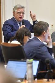 Councilman John Cooper speaks up during the final votes on Nashville's MLS stadium in September 2018.