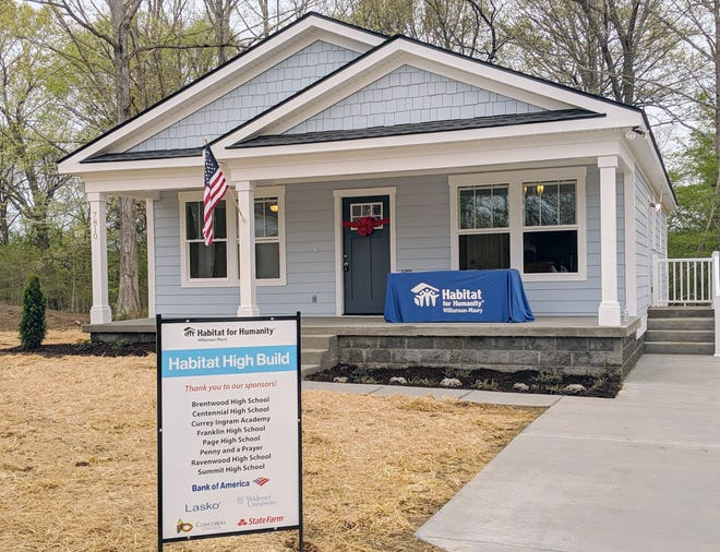 Local High School Students Build 19th Home with Habitat for Humanity Williamson-Maury in Fairview, TN.  Home was presented to Jamesia Dowell on April 13, 2019