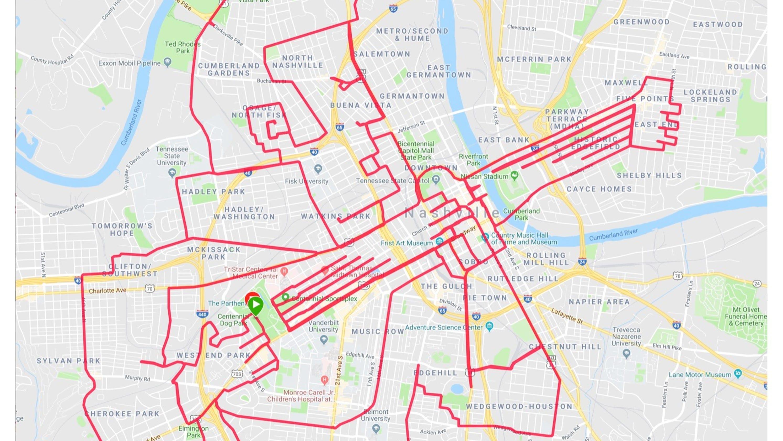 89491eb46 Elvis-themed bike route in Nashville is part of GPS art trend