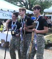 Fairview High School JROTC's  Top Team at 2018 Mountain Man Memorial March.