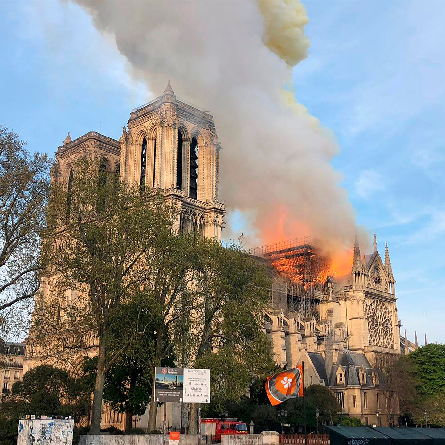 Live: Fire breaks out at top of Notre Dame Cathedral in Paris