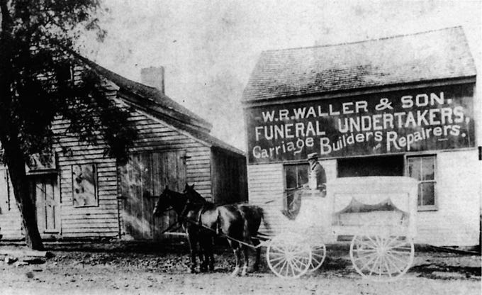 An undated photo shows Waller Funeral Home in Nolensville, one of the oldest family businesses in Williamson County.