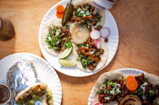 Tacos Aurora serves Mexican street food with a California influence.