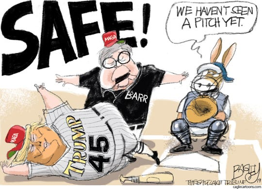 barr calls trump safe