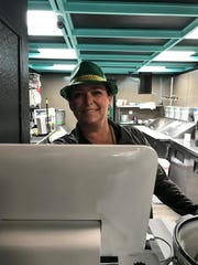 This recent picture of Traci Jones Scott was taken at SteamRoller Bagels on Saint Patrick's Day.