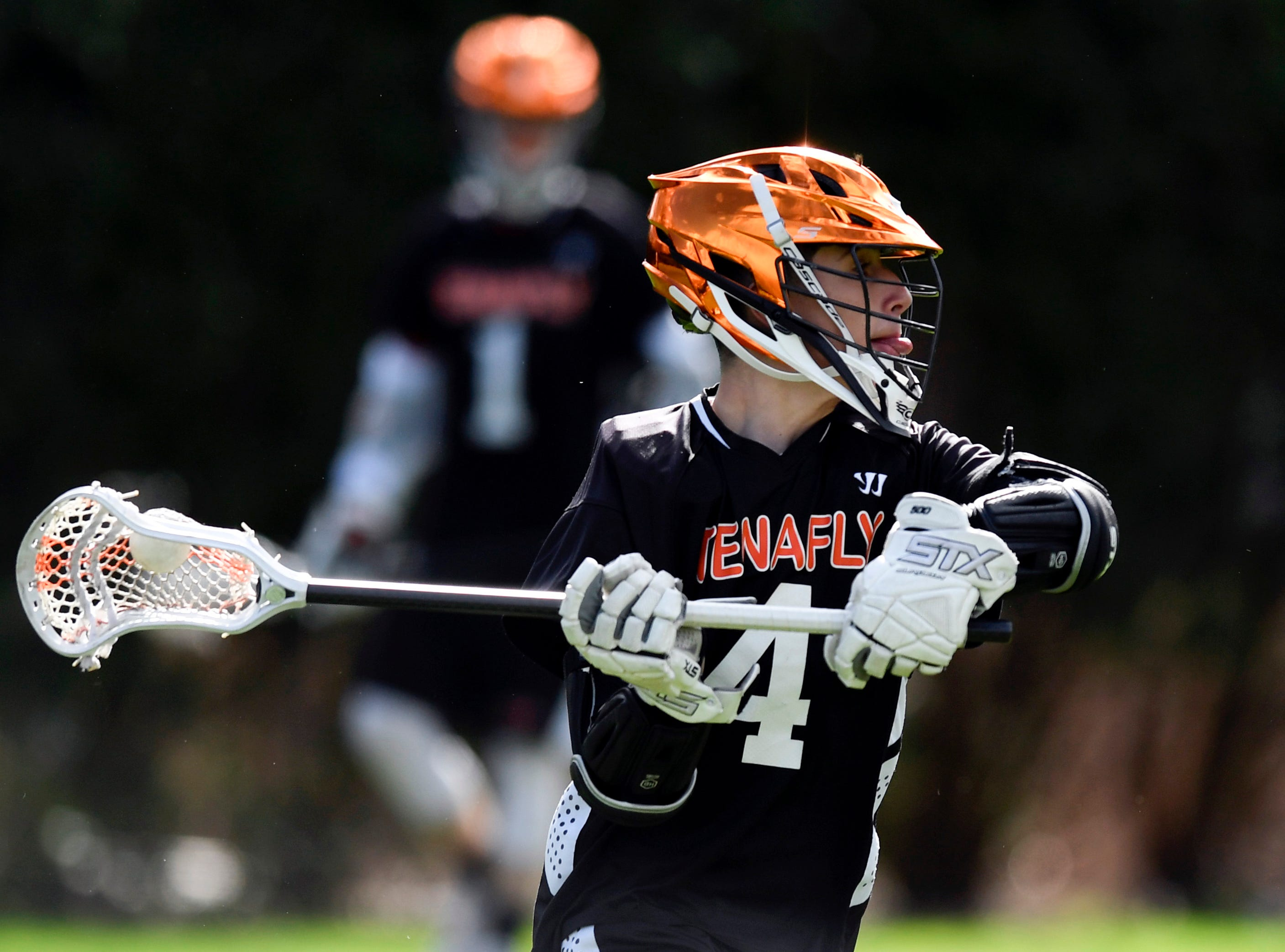 Tenafly's Ben Roberts plays against Dwight Englewood on Monday, April 15, 2019, in Englewood.