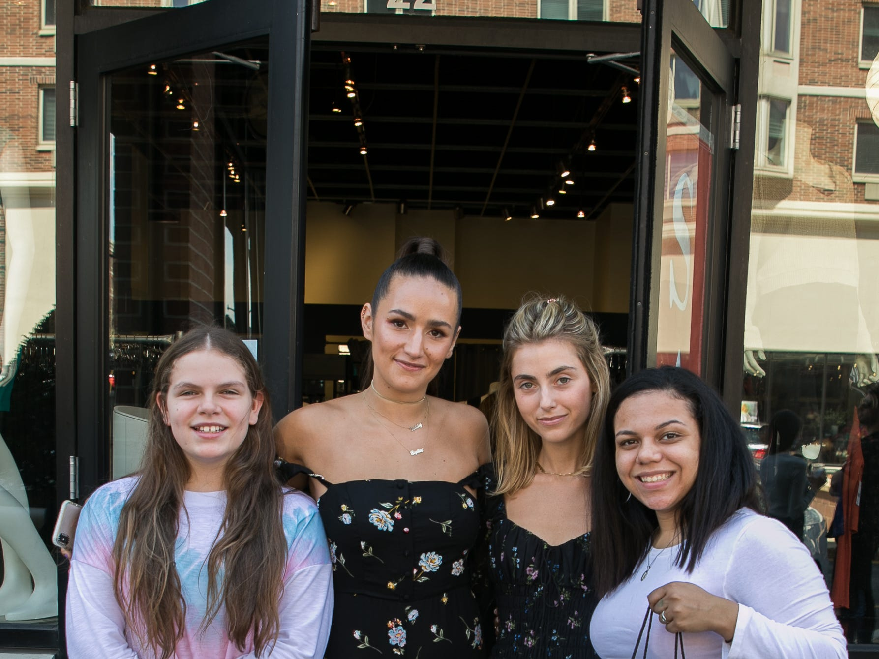 Maryanne DeLeo. Sophie and Charlotte Bickley, Caitlin Cruz. Instagram fashion stylists sisters Sophie and Charlotte Bickley visited Ambience Boutique in Edgewater. 04/13/2019