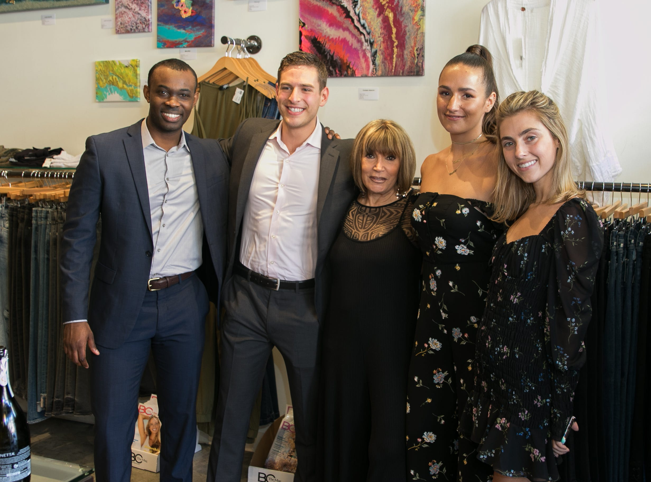 Aaron Walters, Jason Ovryn, Carry Inc.,Grace Guido, Sophie and Charlotte Bickley. Instagram fashion stylists sisters Sophie and Charlotte Bickley visited Ambience Boutique in Edgewater. 04/13/2019