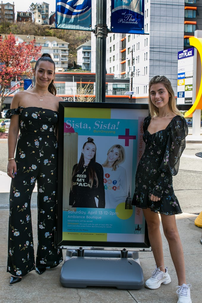 Sophie and Charlotte Bickley. Instagram fashion stylists sisters Sophie and Charlotte Bickley visited Ambience Boutique in Edgewater. 04/13/2019