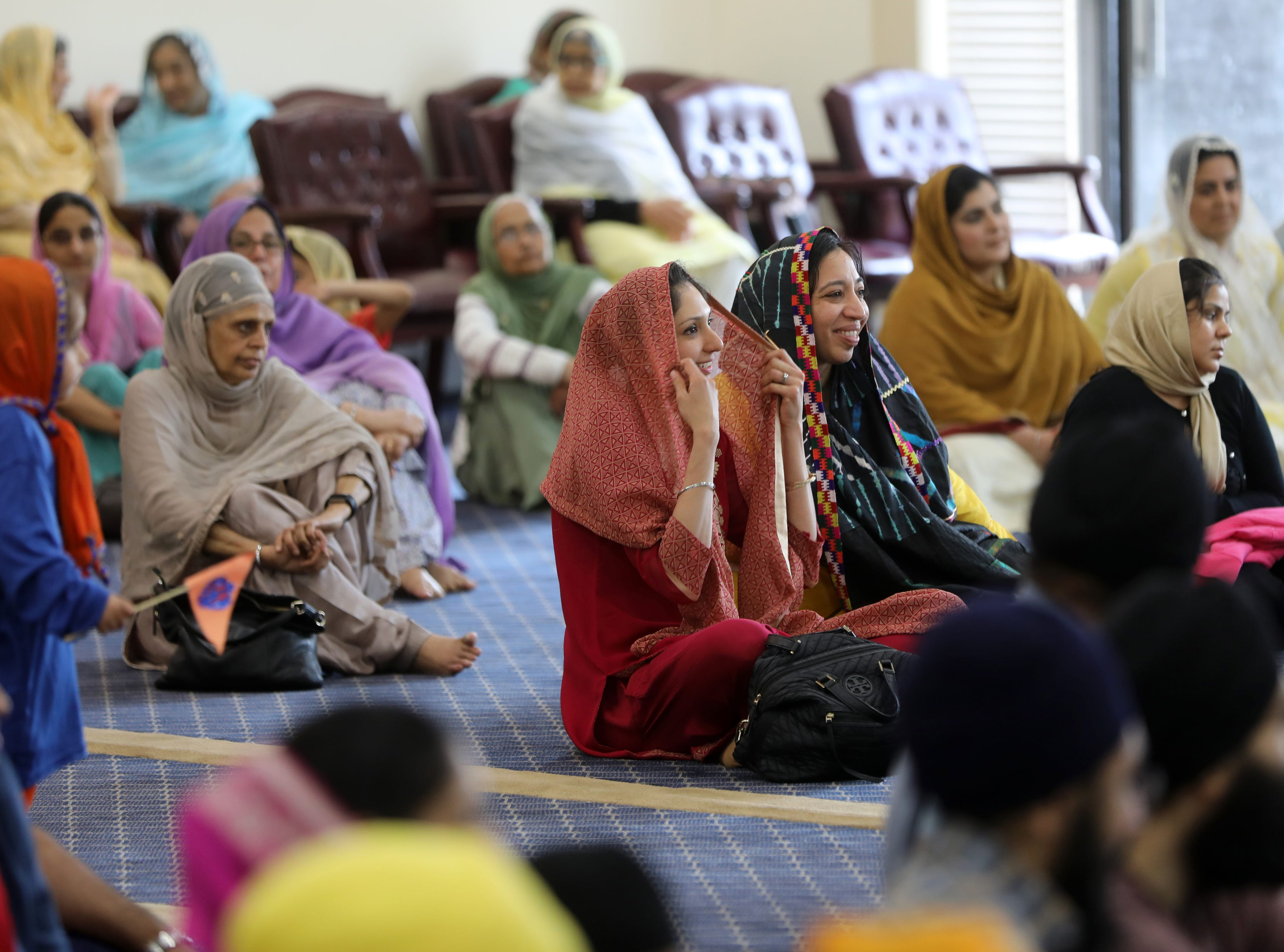 People are shown in the mail hall during the Vaisakhi Festival. Sunday, April, 14, 2019