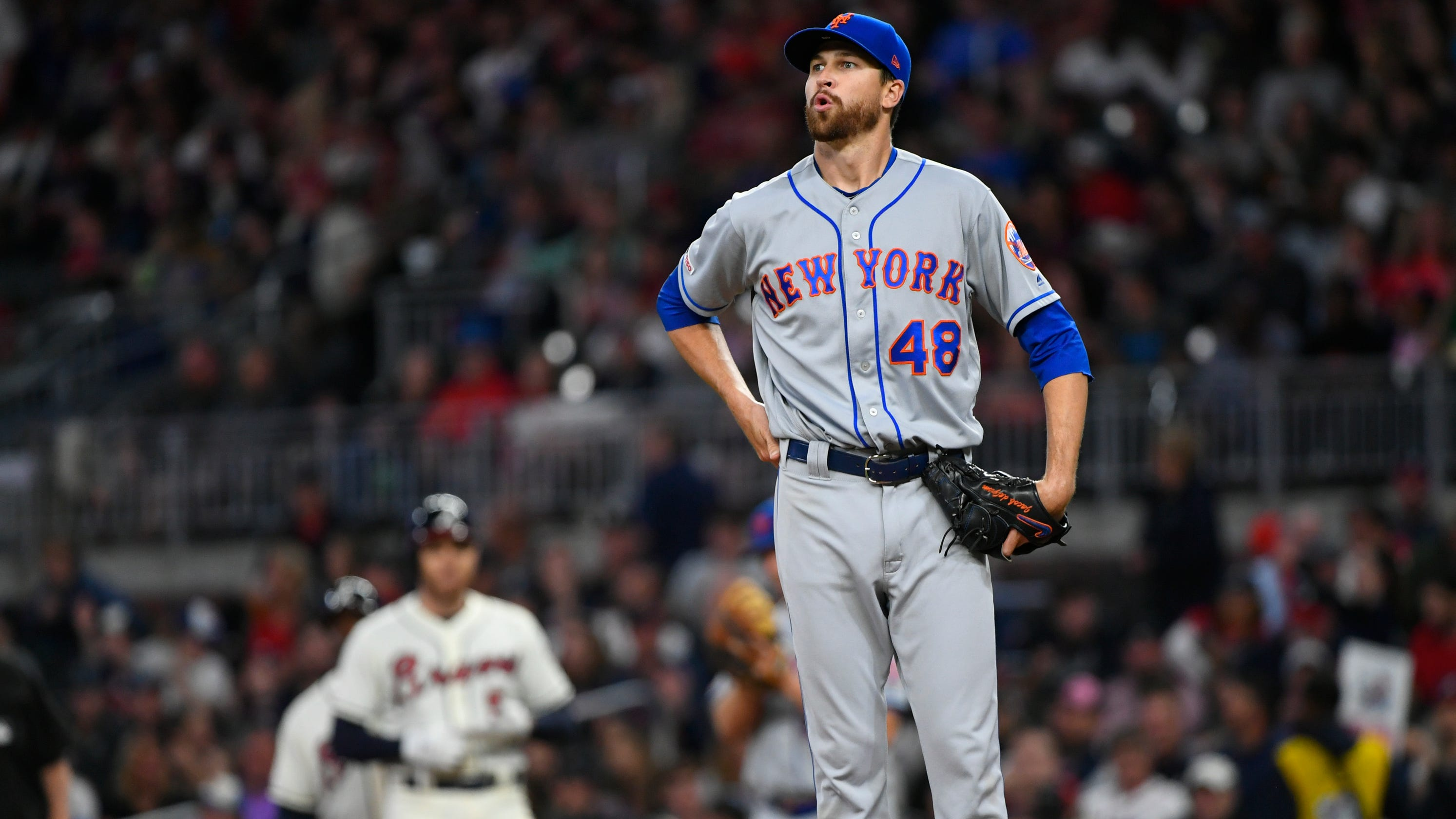 7c930071 Ballbug: Mets' Jacob deGrom returns to New York for tests after ...