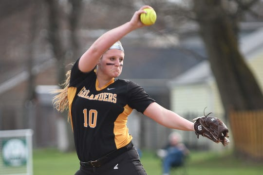 Pitcher Jess Perucki recorded 13 strikeouts to lead West Milford past Lakeland in the Passaic County tournament on Saturday.