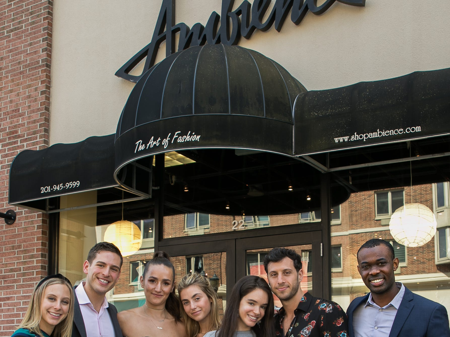 Madison Steiner, Jason Ovryn, Emma Demar,Sophie and Charlotte Bickley, Matt Trauner, Aaron Walters. Instagram fashion stylists sisters Sophie and Charlotte Bickley visited Ambience Boutique in Edgewater. 04/13/2019