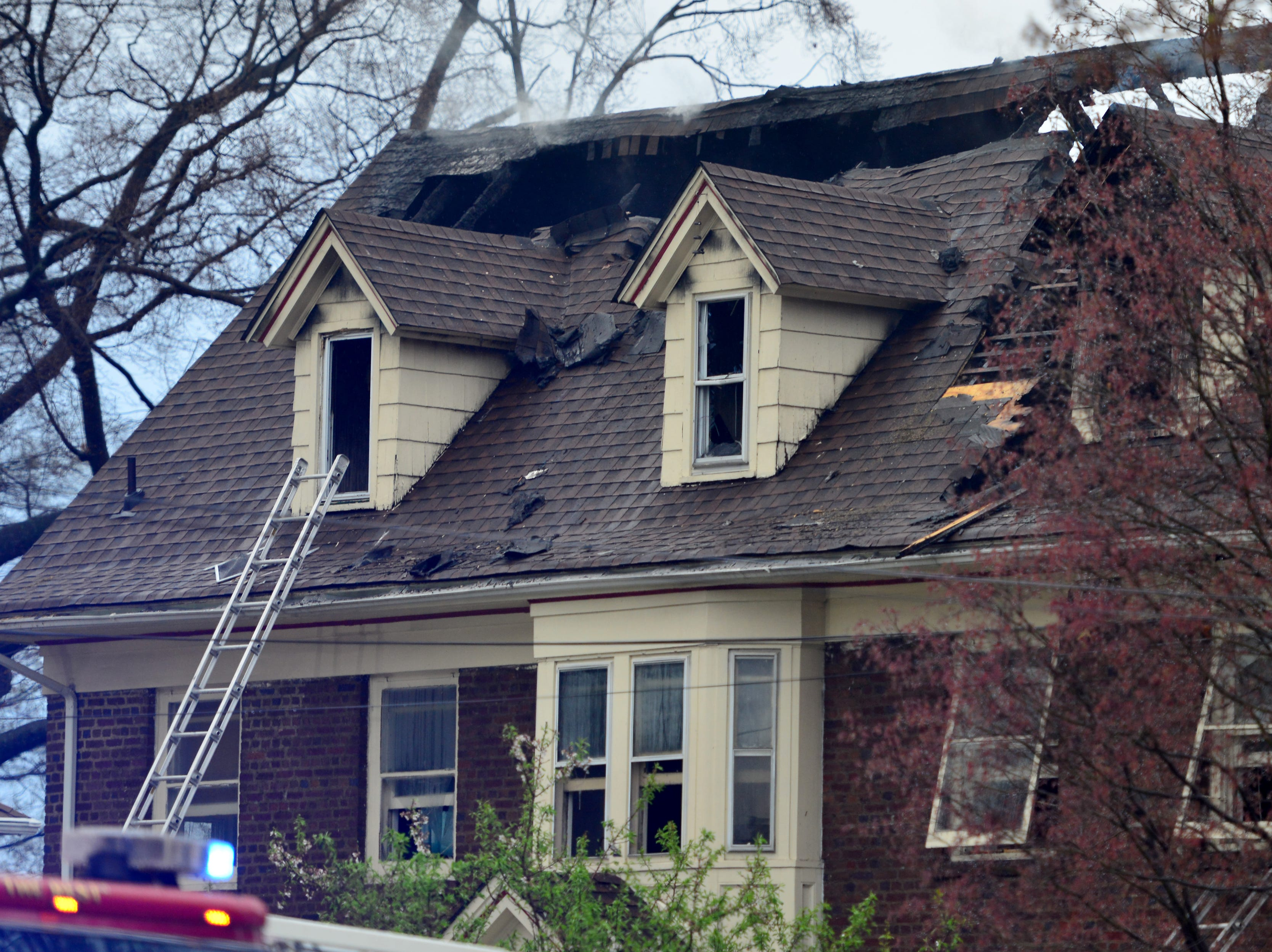 Fire destroys a home on Ridge Rd in Rutherford on Monday April 15, 2019. Fire companies from surrounding towns assisted in putting out the blaze.