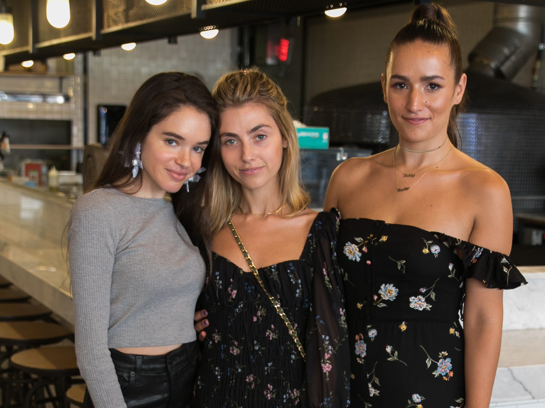 Emma Demar, Sophie and Charlotte Bickley. Instagram fashion stylists sisters Sophie and Charlotte Bickley visited Ambience Boutique in Edgewater. 04/13/2019