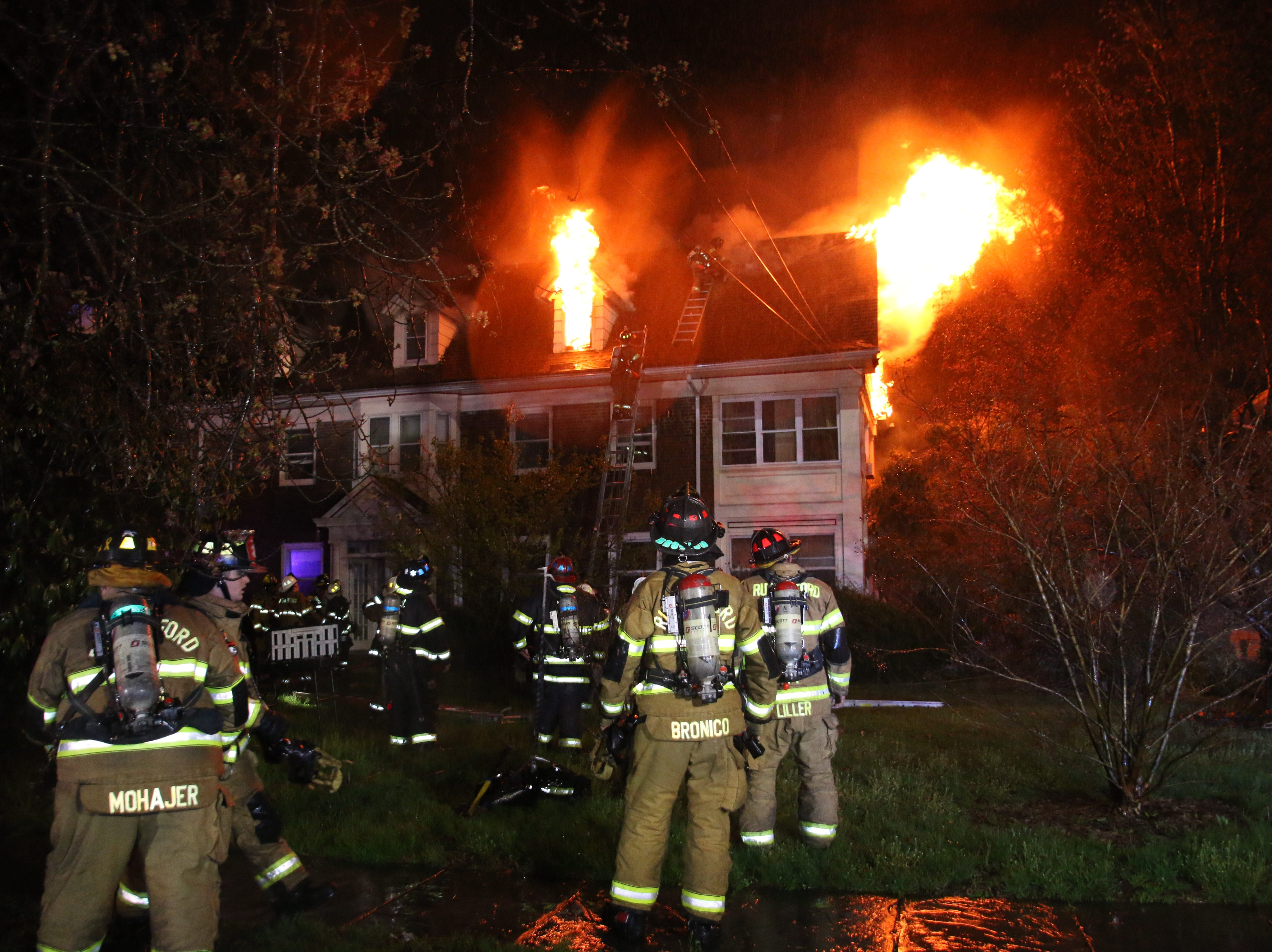 Firefighters battled against a 3-alarm blaze that broke out early Monday morning.