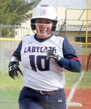 Junior Lady 'Cat Jessalyn Olivas went 6-for-7 at the dish with 4 rbi and 5 runs scored in Friday's double-header sweep of the Gadsden High Panthers.