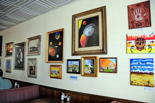 Outer space paintings, old West photos, watercolors of flowers, acrylics and abstracts in different mediums are all available for the public to view and purchase at the Grand Motor Inn Art Show. The sheer variety is exciting and worth your time to just pop in and look. This show will be at the Inn until May 30. After May 30, the local Deming Photo Club will display its incredible talents.