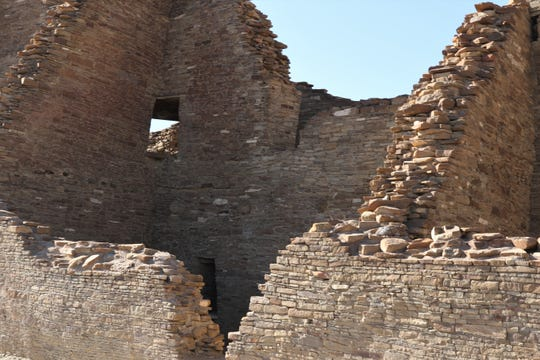 Pueblo Bonito is pictured, Sunday, April 14, 2019, at Chaco Culture National Historical Park.